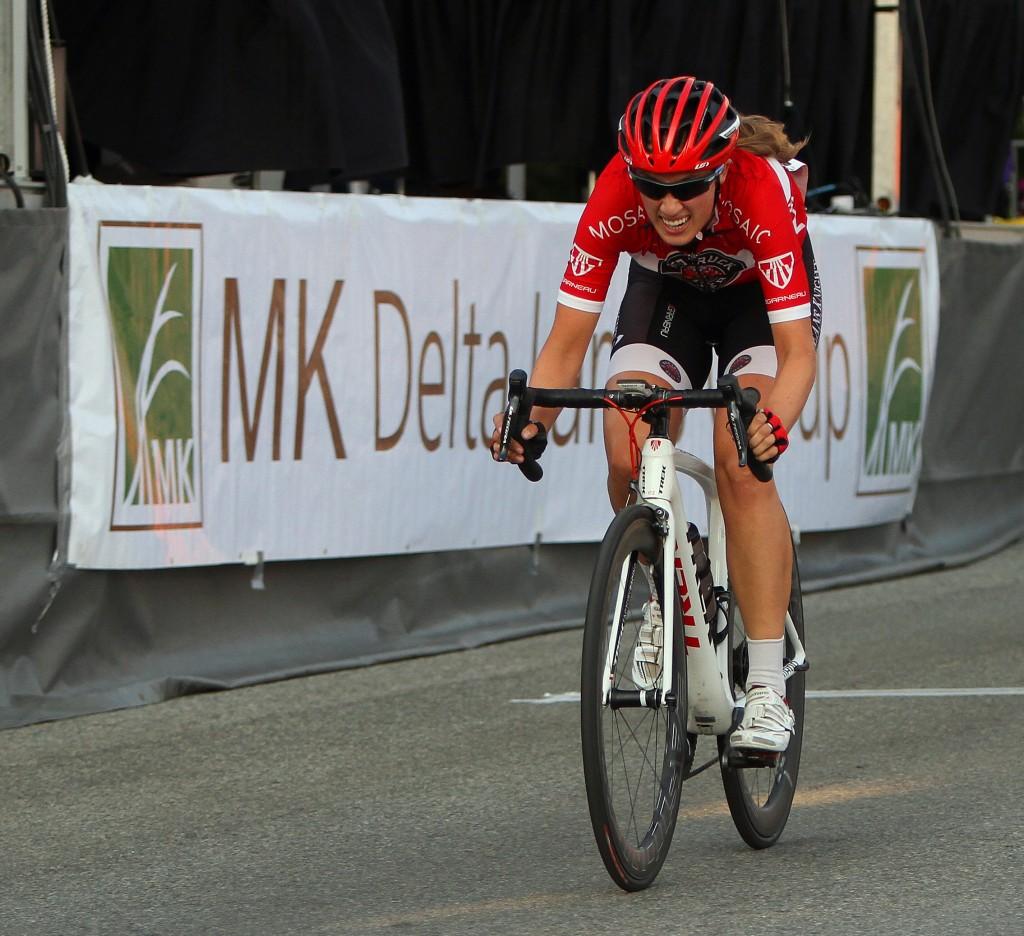 Denise RAMSDEN  (Trek Red Truck Racing p/b Mosaic Homes), winner of the Tour de Delta MK Delta Criterium.