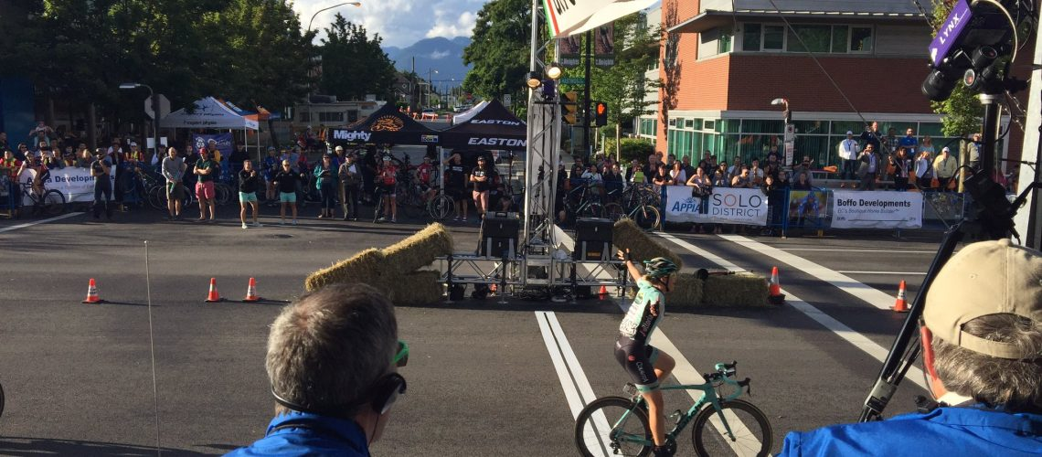 Two-time Australian National Criterium Champion Kimberley Wells takes Giro di Burnaby women's race