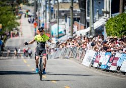 American rider Brendan Rhim breaks away to win Tour de White Rock presented by Landmark Premiere Properties Westminster Savings Road Race