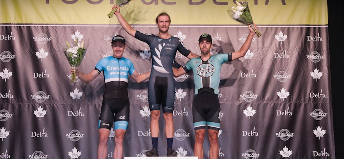 2016 New Zealand Olympian Regan Gough wins Tour de Delta North Delta Criterium